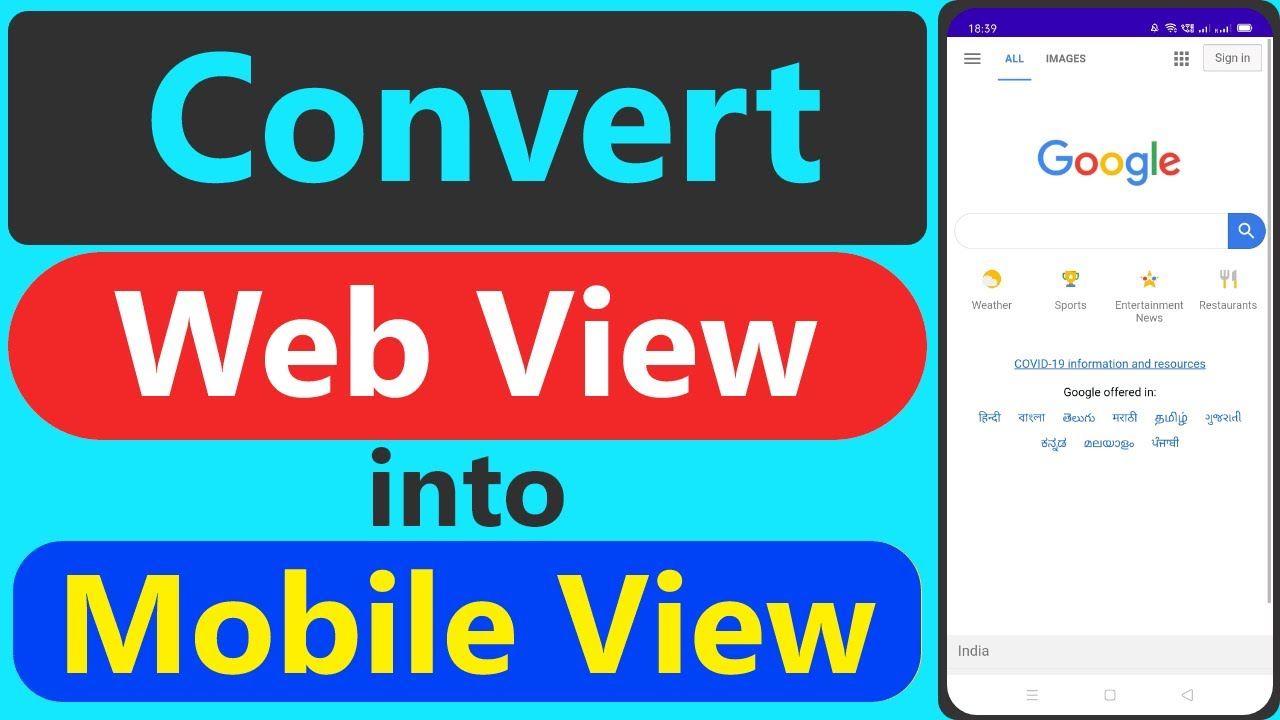 How to create web-view in android studio || Convert Web View into Mobile View || Mobile web View