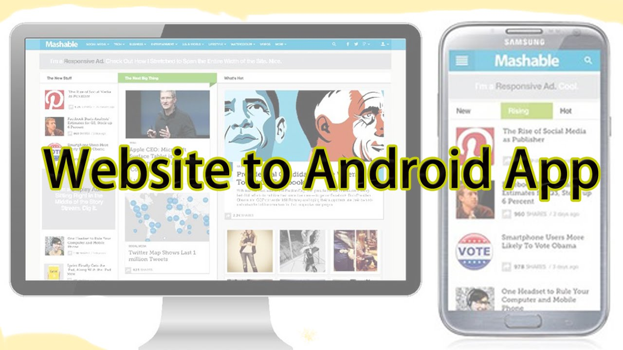Convert Your Website to Android Application Tutorial