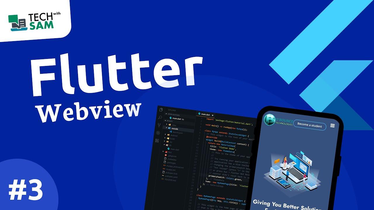 Convert a website to an app using flutter – Flutter WebView (PART 3).