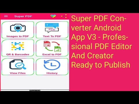Super PDF Converter Android App V3 – Professional PDF Editor And Creator Ready to Publish