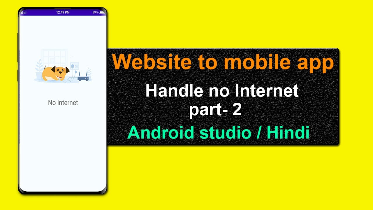 convert website to android app | handle no internet web view | part-2