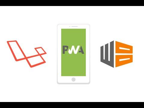 Convert laravel project into PWA( Progressive web app)