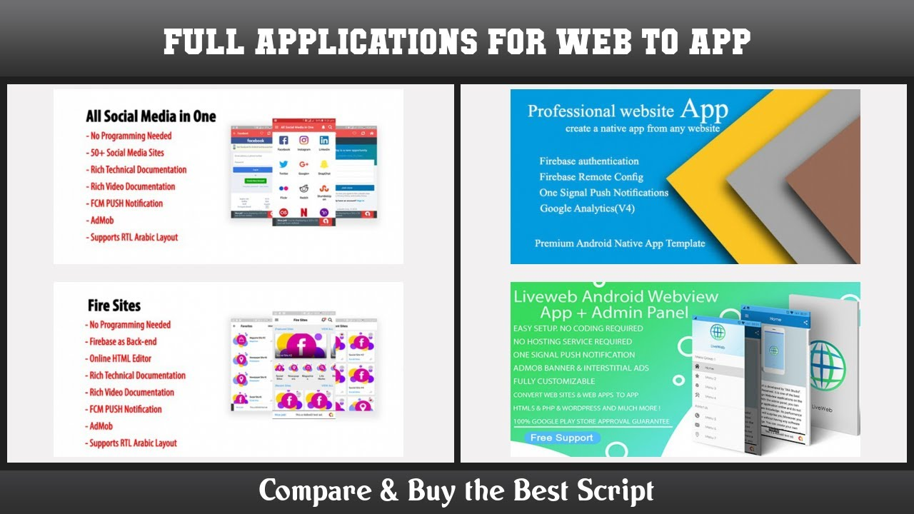 Top 10 Full Applications for Web To App | Free and Paid 2021
