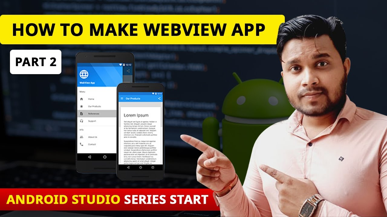 how to make webview app in android studio-convert website to android app_Part 2-Android Studio Hindi