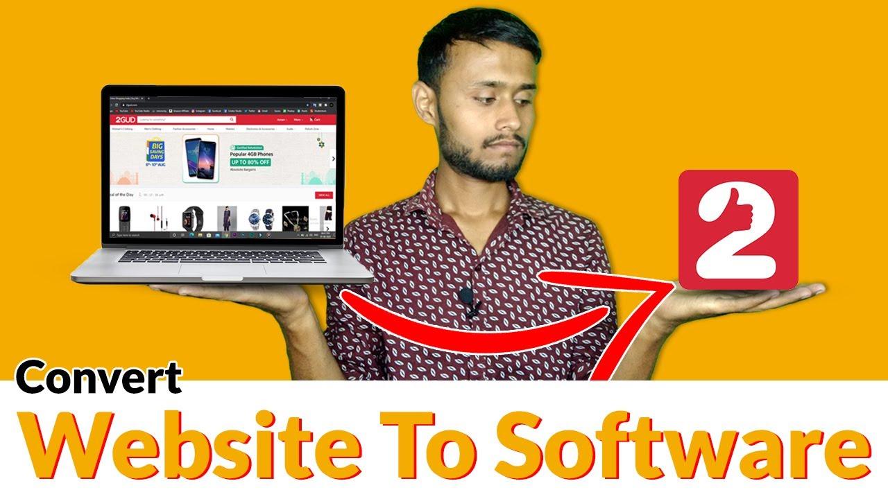 Convert Website To Software | How to convert website to software | website to windows application |