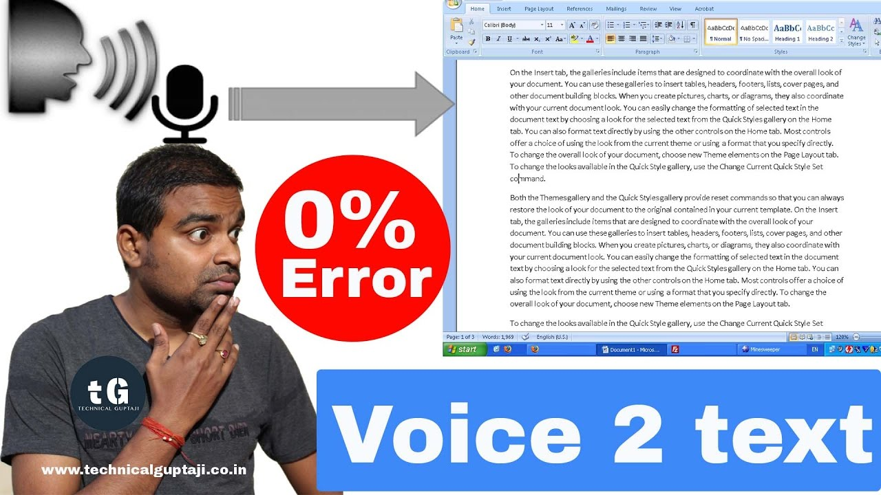 Speech to Text Converter with 0% error | Voice Typing |