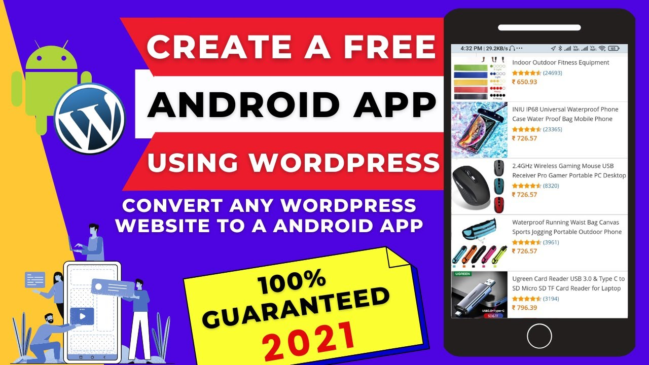 Convert Any WordPress Website To A Mobile/Android App For Free | Create Mobile-Friendly App