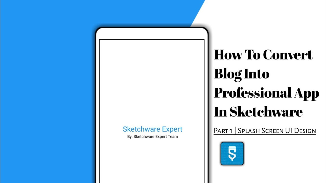 How To Convert Our Website Into A Professional Application In Sketchware | Part 1: Splash Screen????