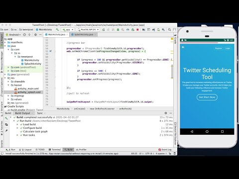 How to Add Progress Bar in App    Convert Website Into Android App  Part 4    Android Studio    2020