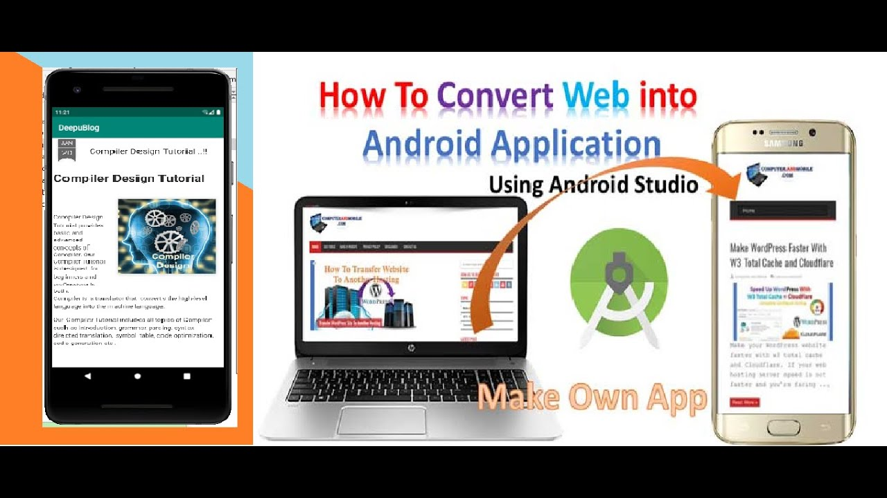 How to Convert a Website into Android Application using Android Studio || Android studio