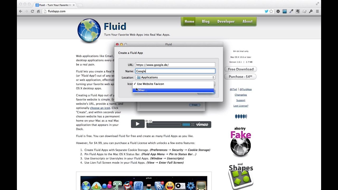 Fluid App – Turn Your Favorite Web App into Real Mac Apps