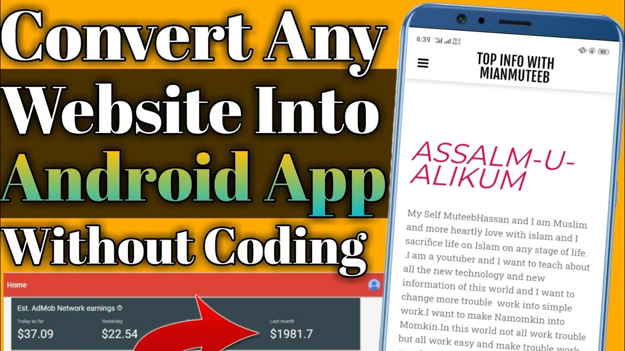 How To Convert Any Website Into App Without Coding || Blog To Android Application