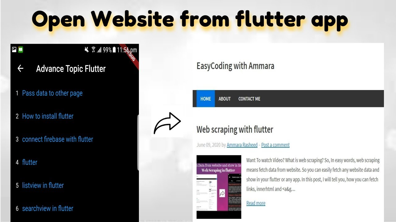12 How to open website from flutter app | open url in browser | Open any link from flutter app