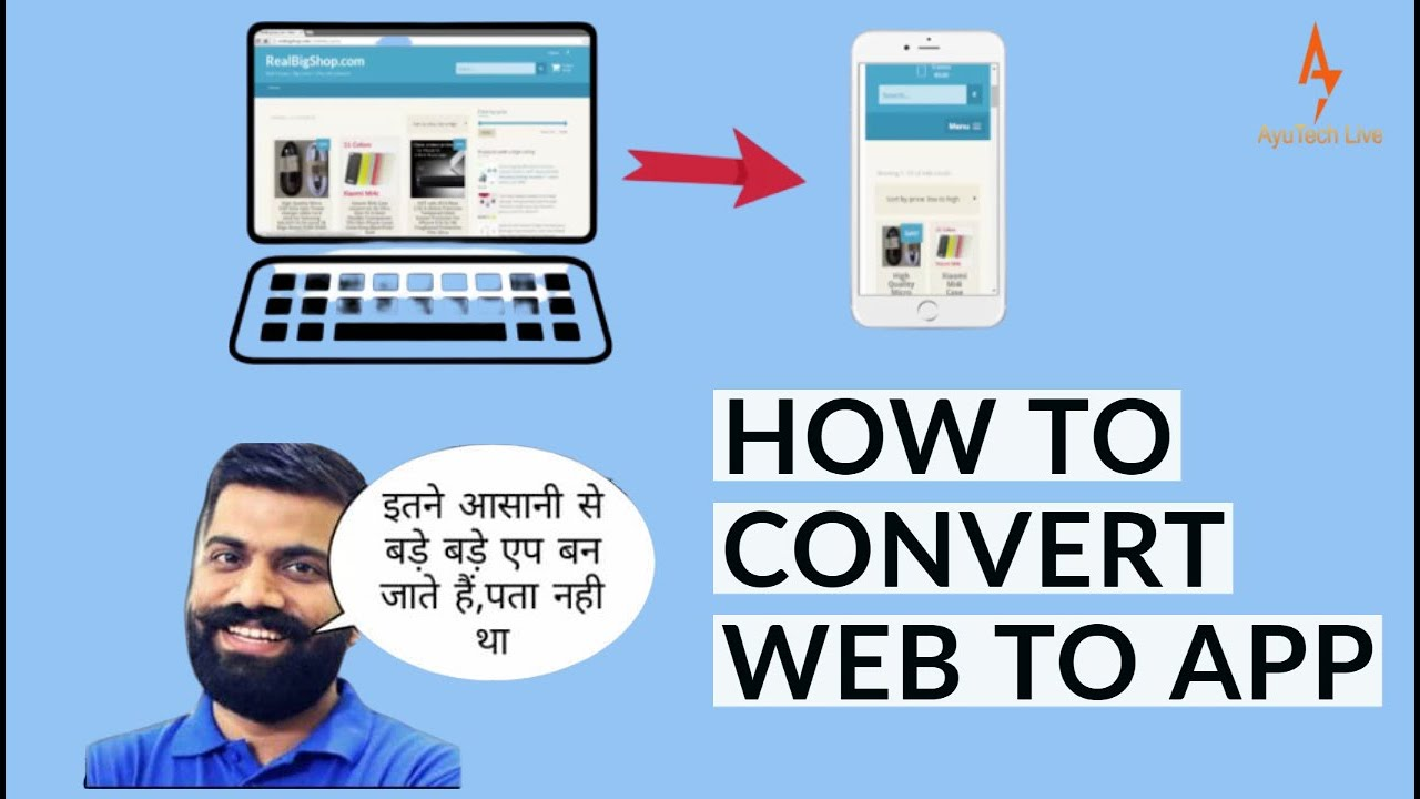 How to convert any website into app Using Kodular in 2020||Thunkable|Android studio