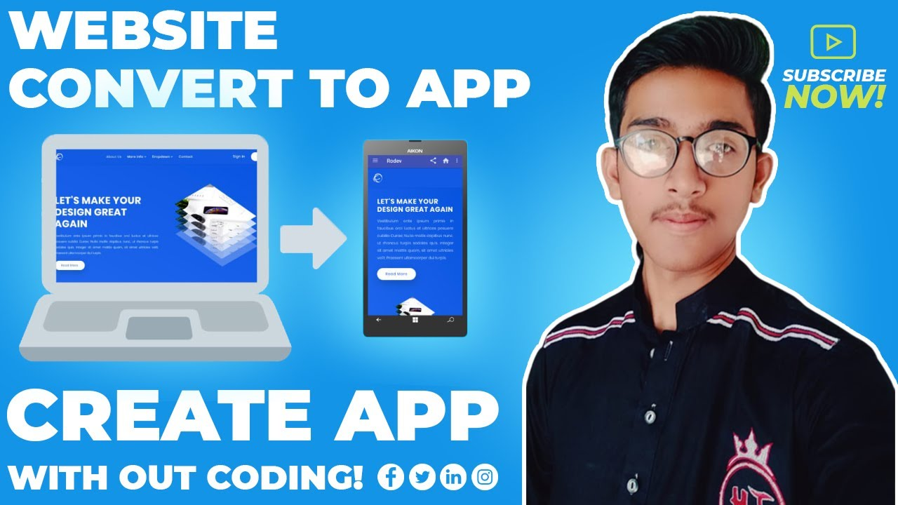 How to Convert a Website into Android Application using kodular   Make App Without Coding