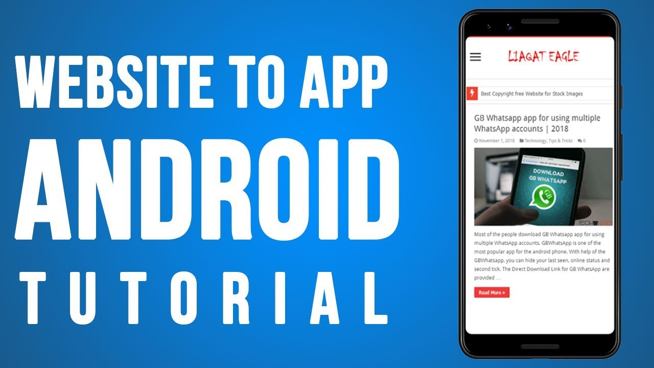 How To Convert Website or Blog In Android APP | Android Studio Step by Step Guide