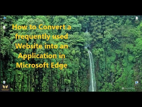 How to Convert a frequently used Website into an Application in Microsoft Edge