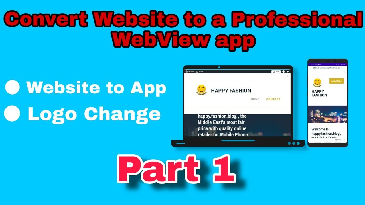 How To Convert Any Website Into a Professional Android App Free Using ANDROID STUDIO 2020 [Part-1]