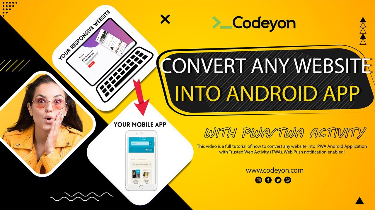 How to Convert Website into Android App (PWA) with Trusted Web Activity (TWA) | Web Push Enabled