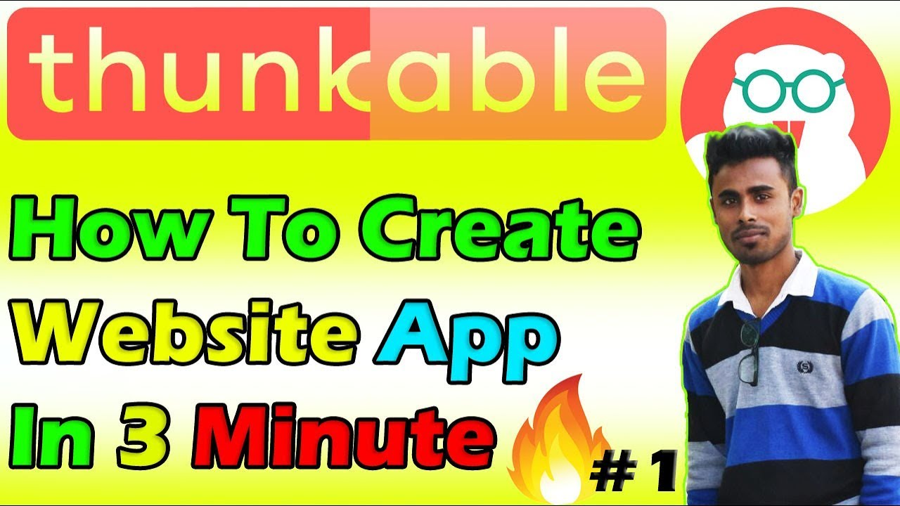 Thunkable Tutorial #1 How to convert website to app In 3 Minute
