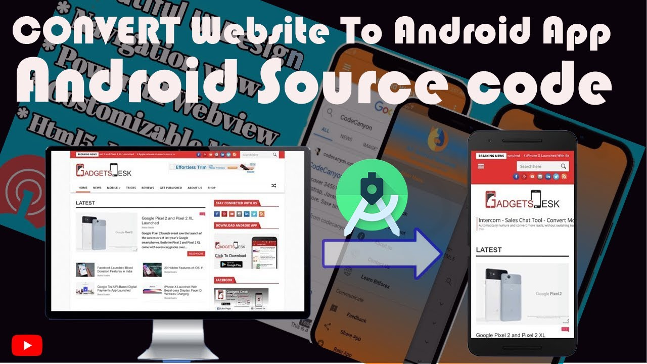 Convert Website Into a Professional Android App Using Android Studio 2020 in HINDI