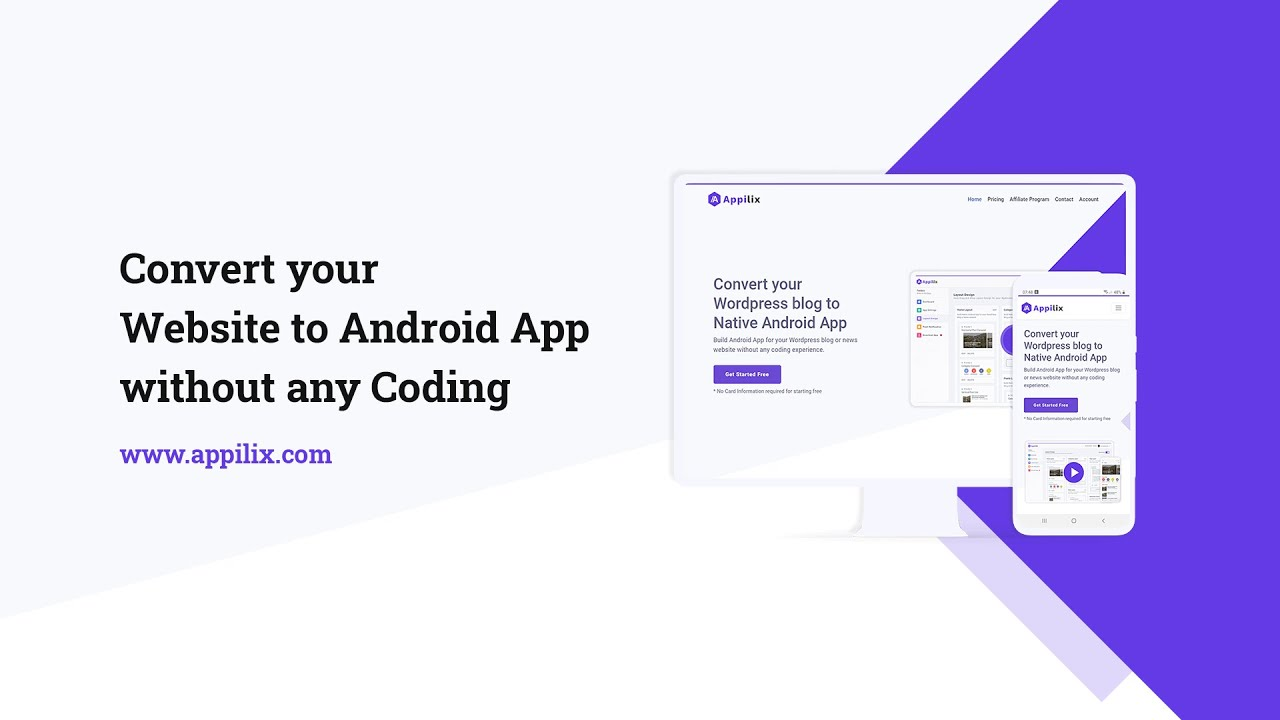 Convert any Website to Android App without coding | Website to APK Converter – Appilix