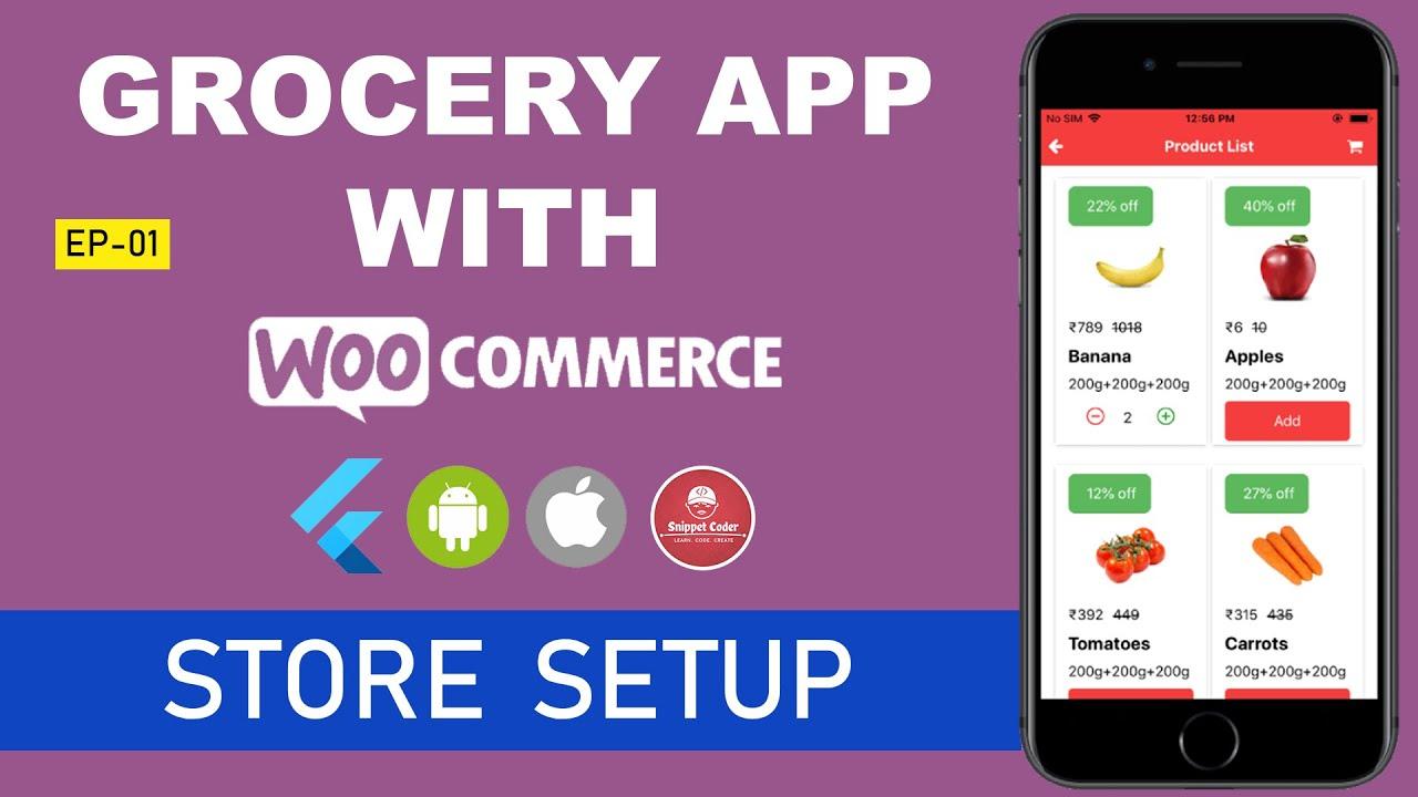 🔥 Flutter – Grocery App – WordPress – WooCommerce Series 🔥 – EP 01 – WooCommerce Store Setup