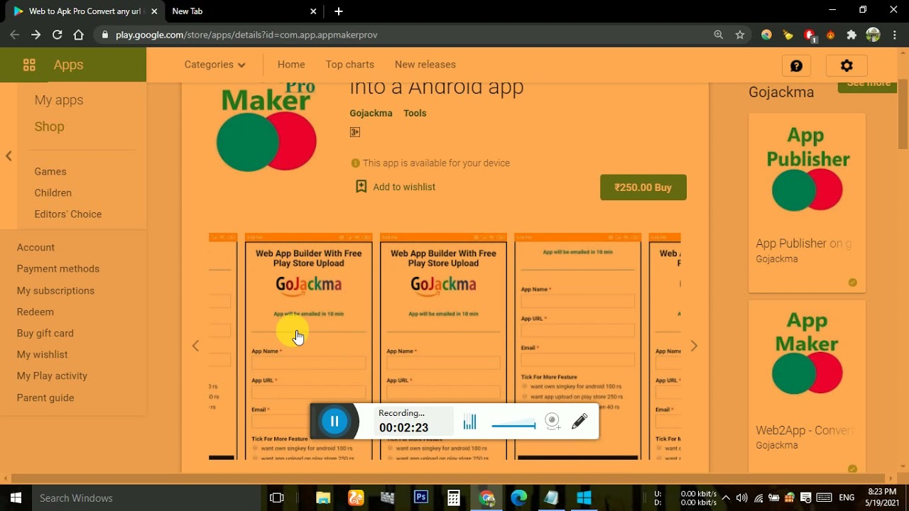 Website Into Android App Converter Free 2021 OFFER  (0.38 dollar) Price 8 Days