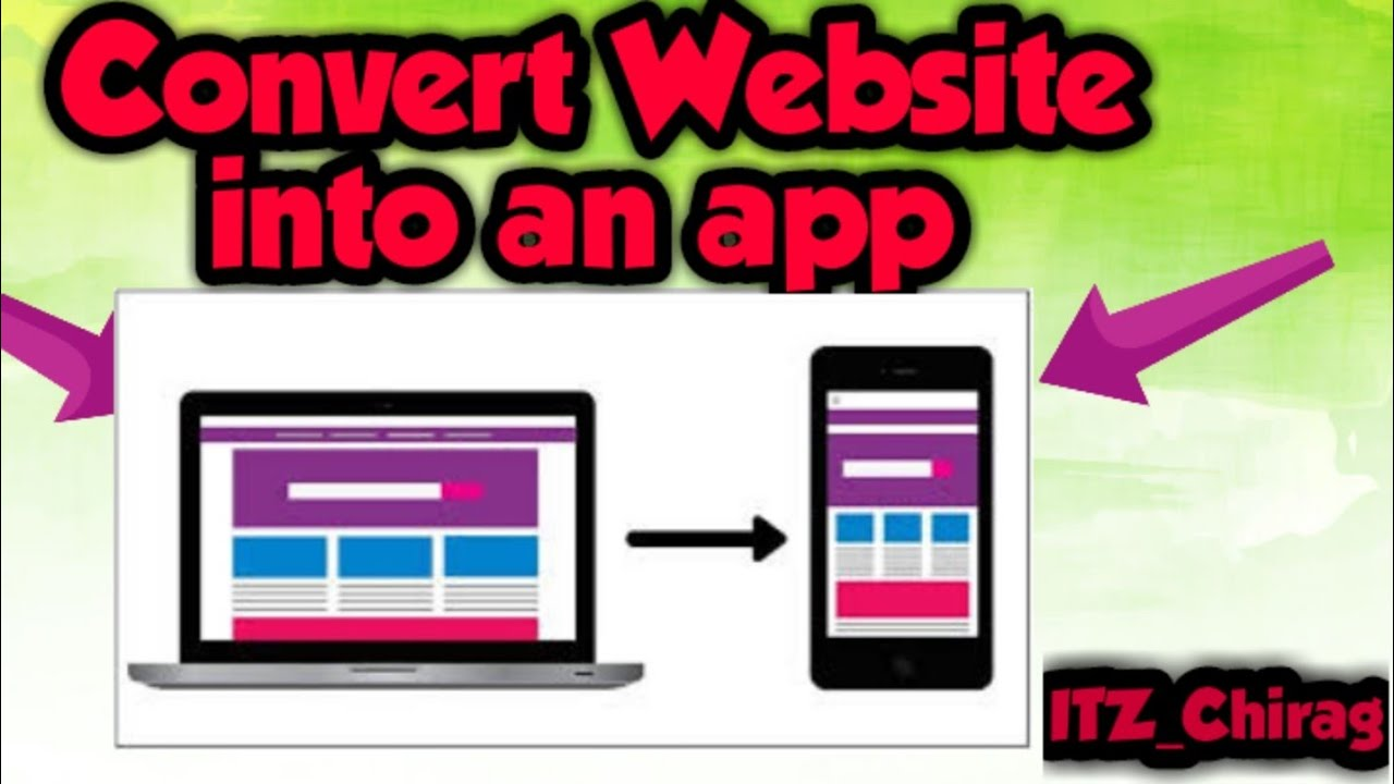 How to convert Website into a professional app website ko app mai kaise bdle #convertwebsiteintoapp