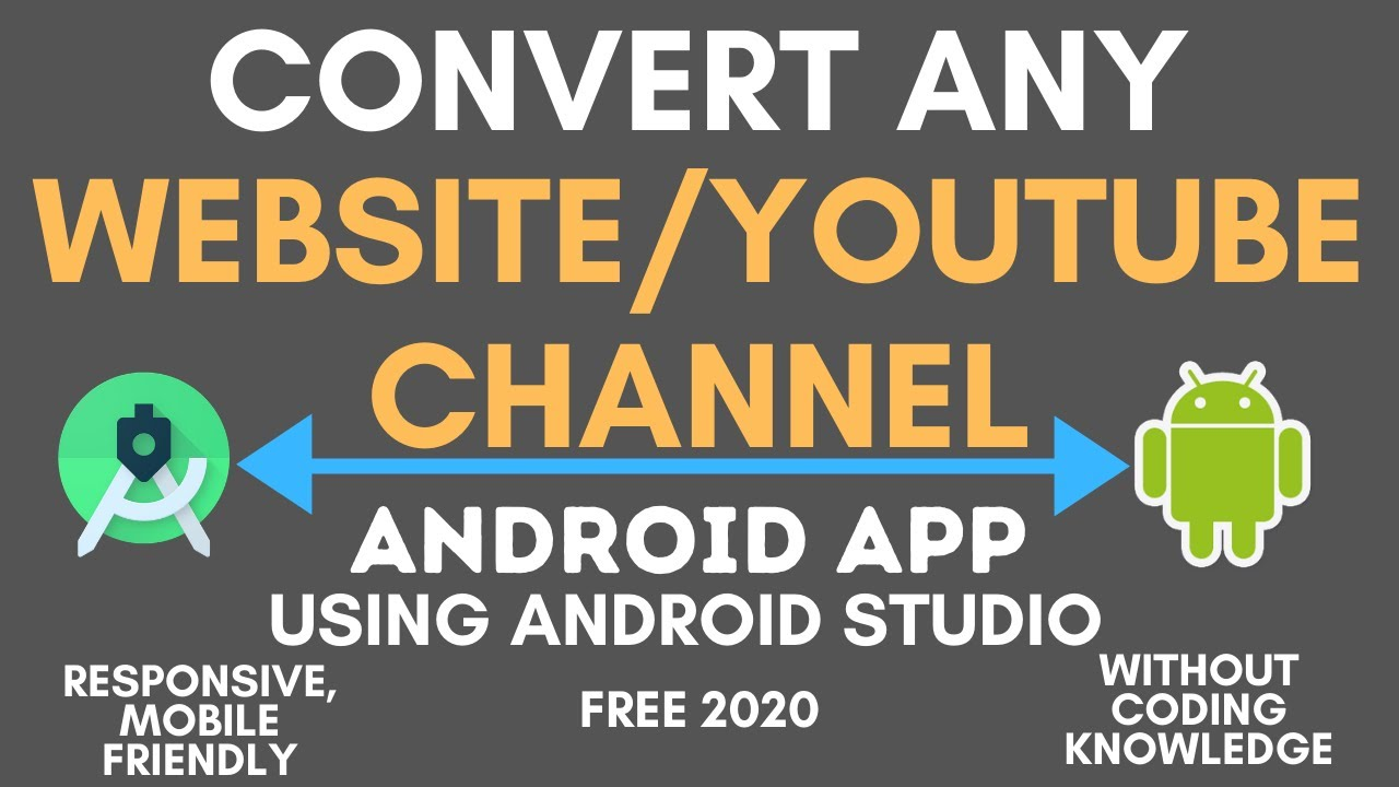 HOW TO CONVERT WEBSITE/YOUTUBE CHANNEL INTO PROFESSIONAL ANDROID APP USING ANDROID STUDIO PROGAMERLY