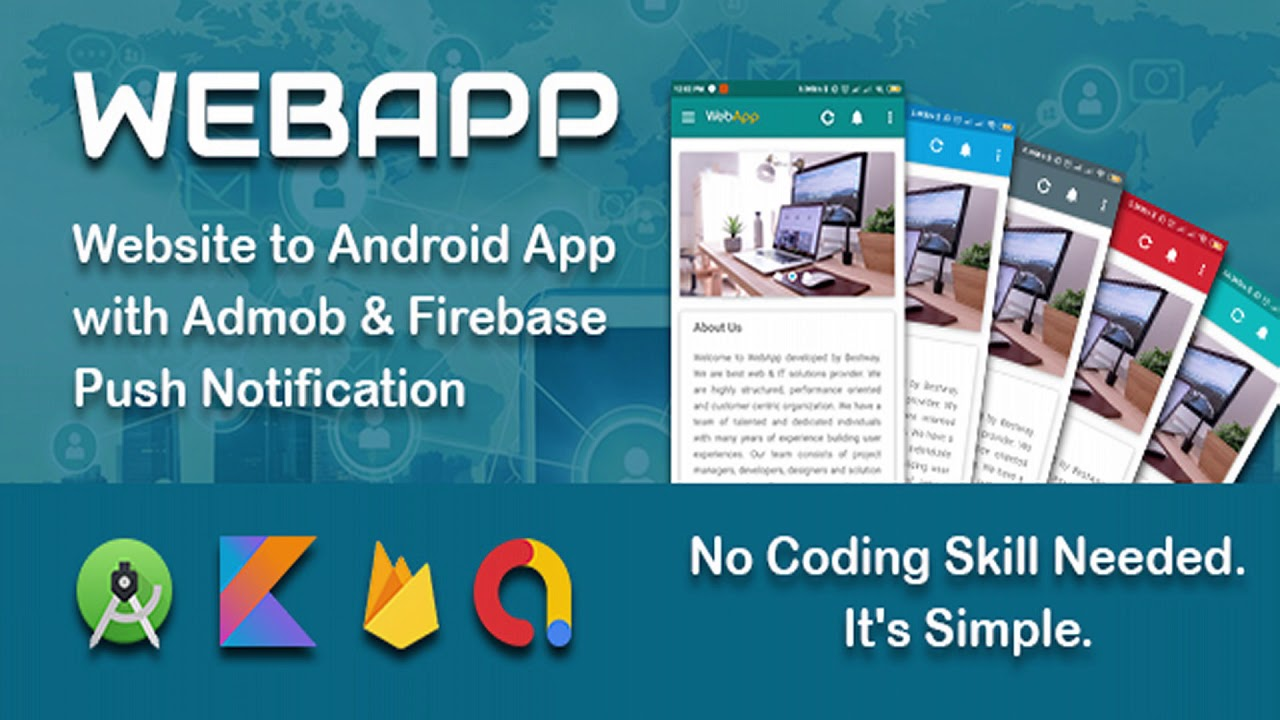 WEBAPP – Website to App Template with Admob and Push Notification Panel | Codecanyon Scripts and