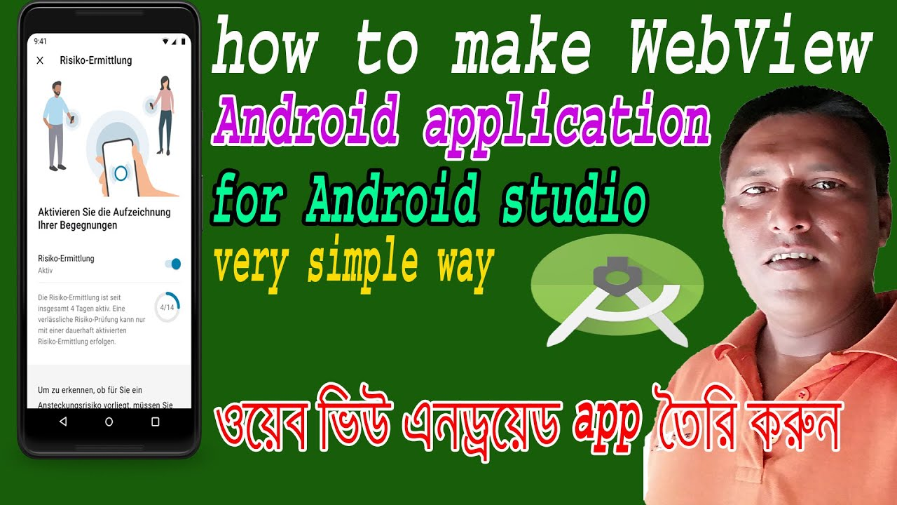 How to Convert Any Website Into webView Android app for Android Studio Bangla 2021