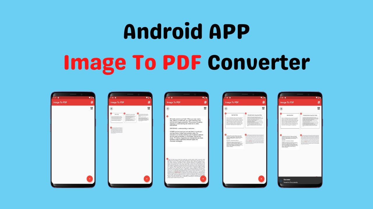 App Intro | Image To PDF Converter – Free Android App