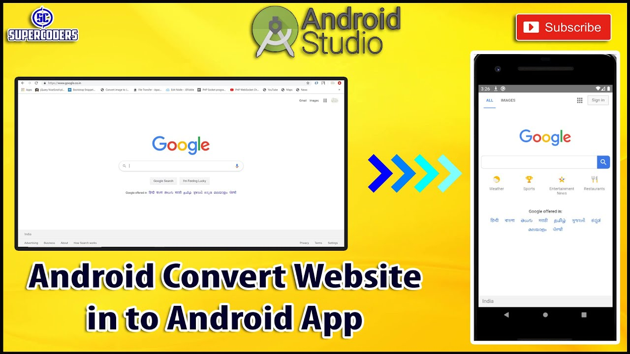 Android Convert Website to Android App