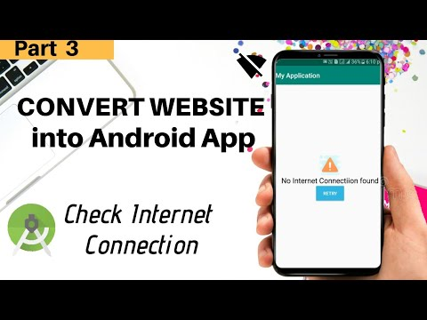 How to convert website into android app || Android studio tutorial – Part 3