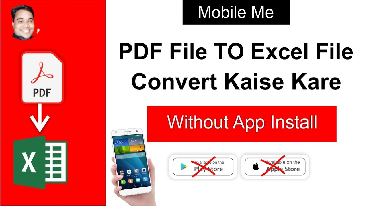 Convert PDF To Excel In Mobile Without App | PDF To Excel Converter | PDF To Excel In Mobile