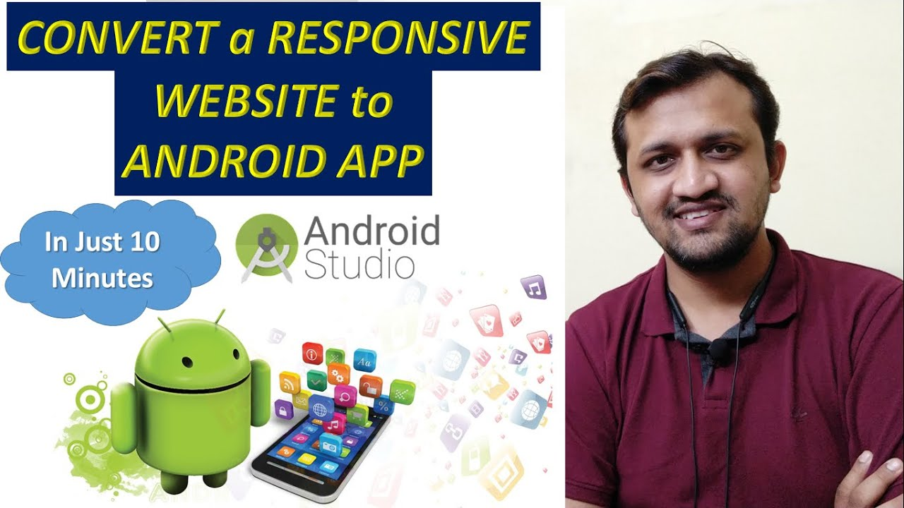 How to Convert your Website Into a Professional Android Application using Android Studio in 10 mins😱