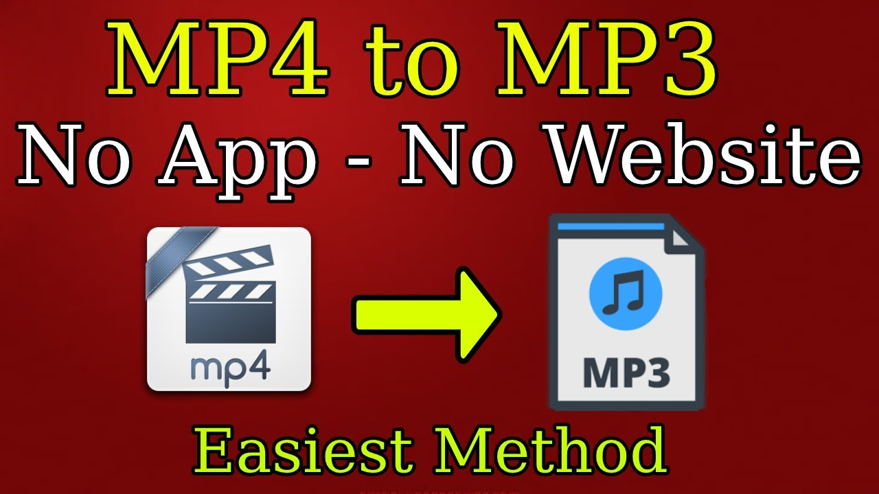 How to convert Mp4 to Mp3 – No App, No Website for Free | EASIEST METHOD