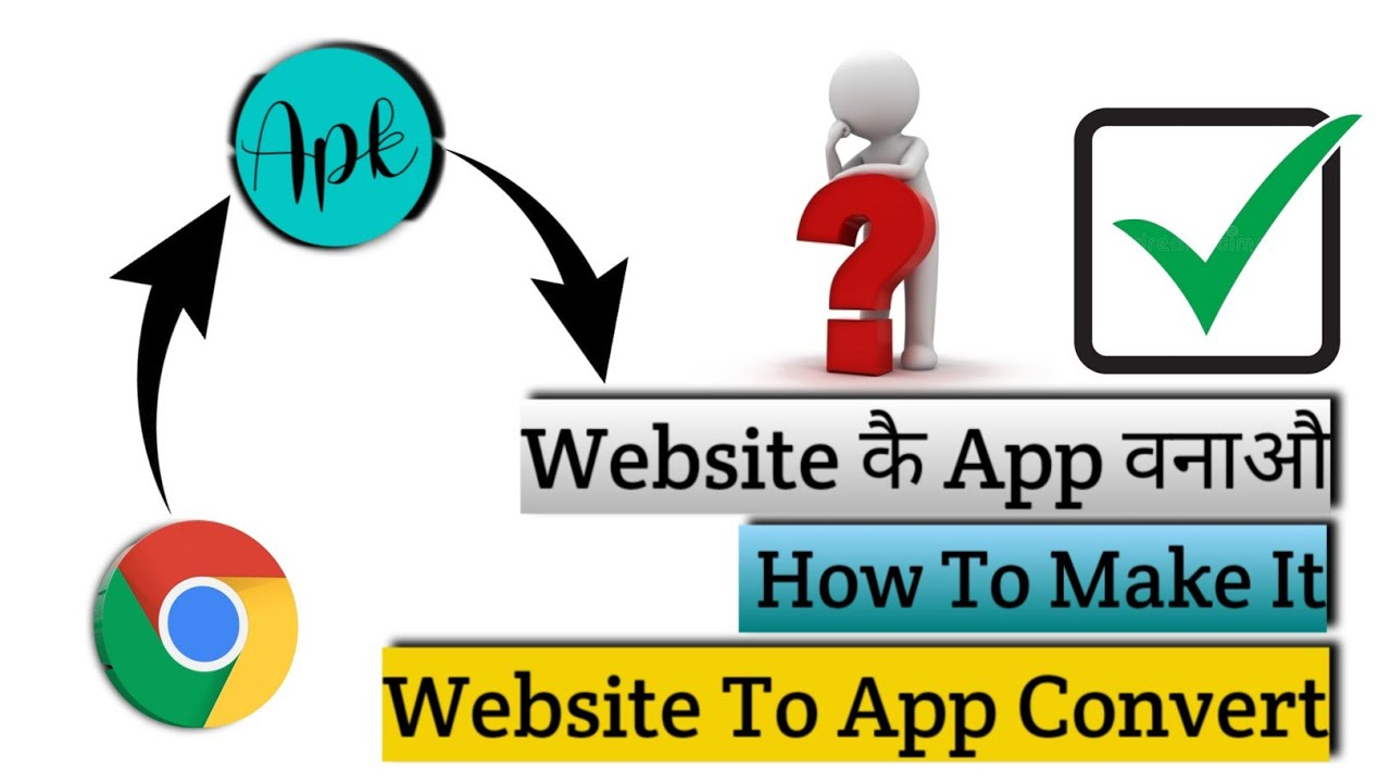 Website कै App बानाऔ | Website To App Convert | How To Create App From Chrome | Interesting #short