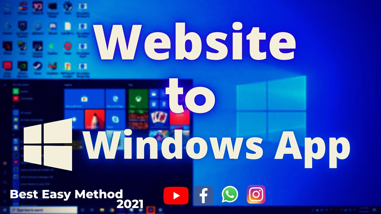 How To Install App In Pc / Convert Any Website into a Windows 10 App / how to run android apps on pc