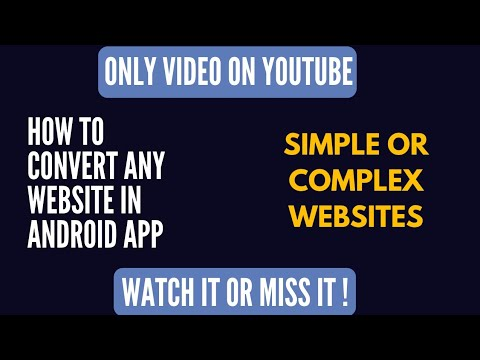 how to convert website in android app