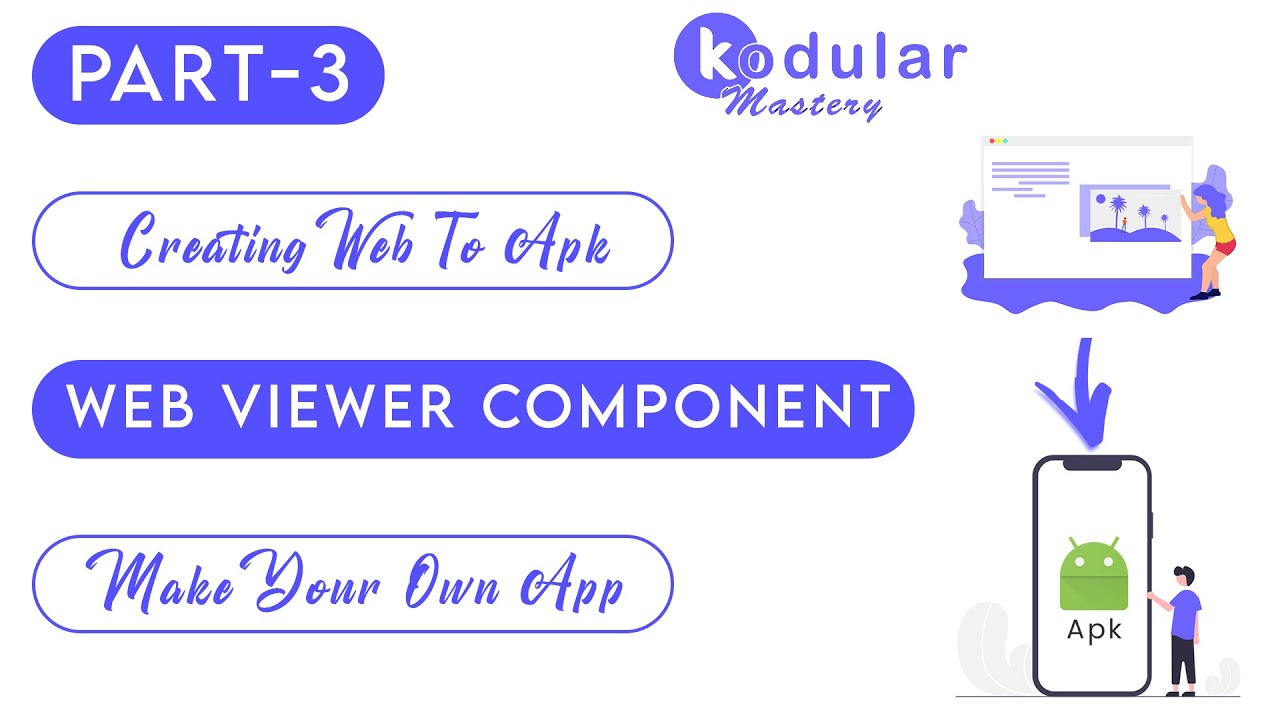 Convert website to android apk in 5 minutes using Kodular | Use of Web Viewer In Kodular | #3