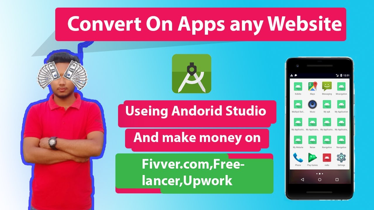 How to Convert a Website into Android Application using Android Studio 2020 Full in One Tutorial