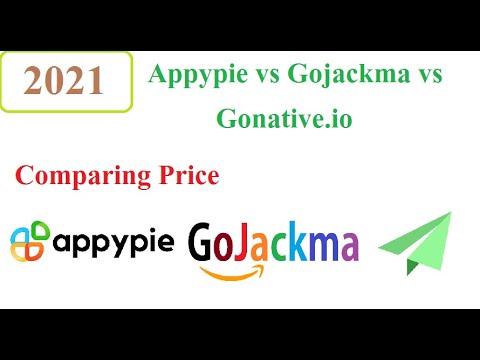 Quick Comparison Appypie.com VS Gojackma.com Vs Gonative.io 2021 – Convert website to app