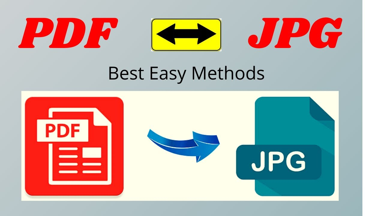 How to Convert PDF to JPG without using Software  PC Laptop  Android  ios  Free  Online  Best Method