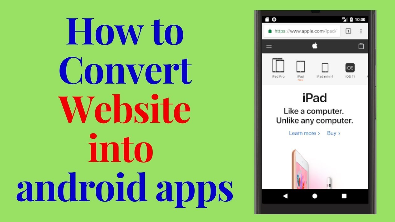 how to convert a website into android apps