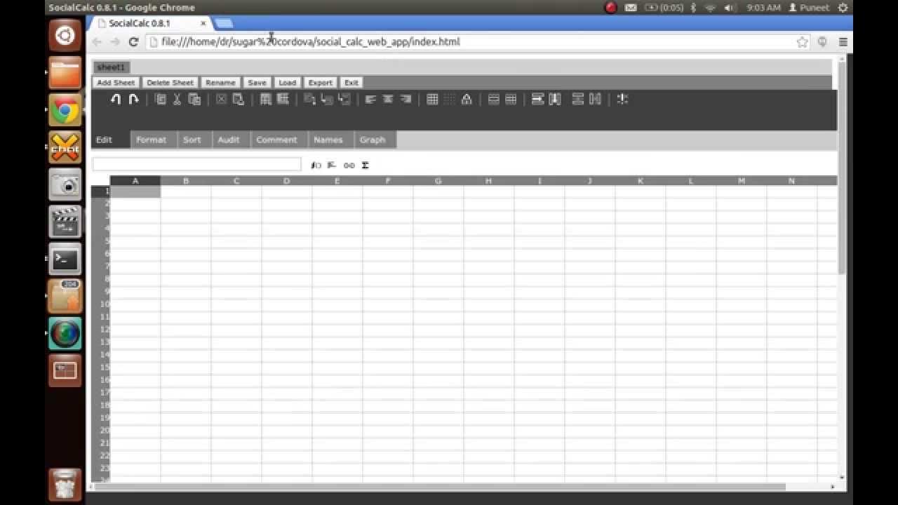 converting an existing social calc web app to a .xo (sugar activity) through cordova