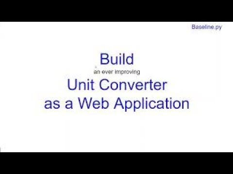 Build Unit Converter As Python Web Application in Python | Learn Python From Scratch 0 | Kovolff