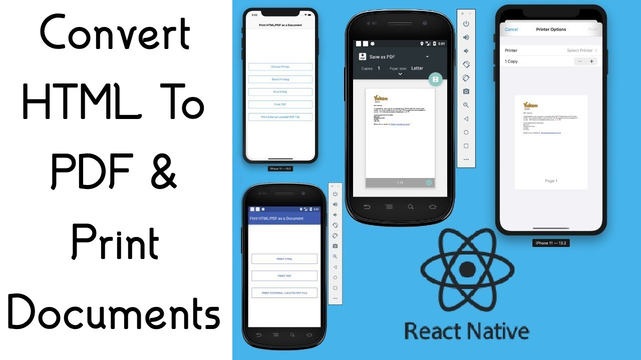 #18 How To Convert HTML Into PDF ? Printing Documents In React Native
