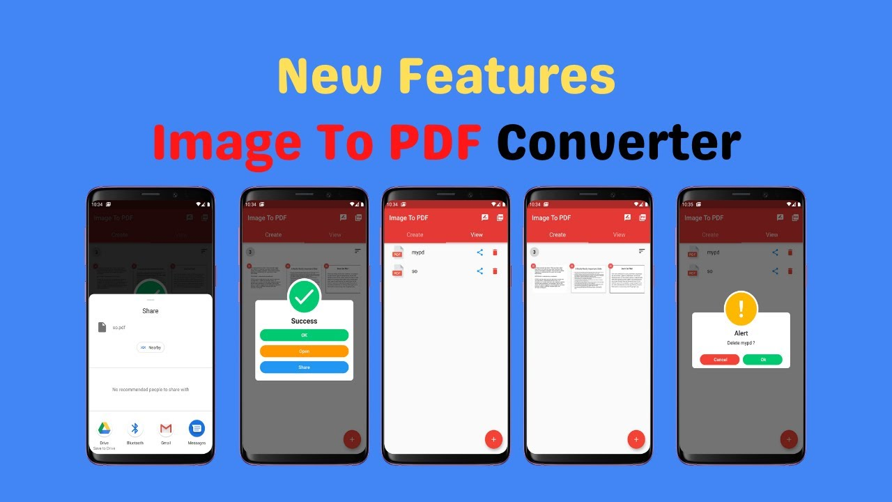 App Intro | Image To PDF Converter Added Features – Free Android App